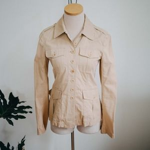 Theory / Tan Button Up Cargo Jacket